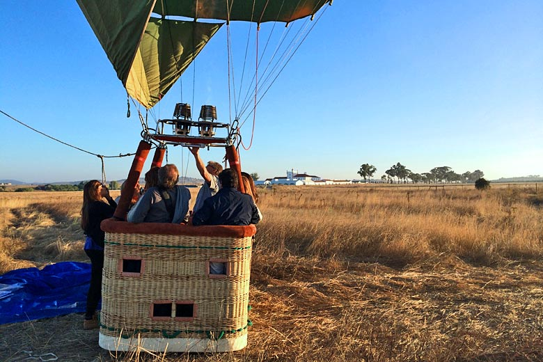 Experience a sunrise hot air balloon ride - photo courtesy of Torre de Palma Wine Hotel