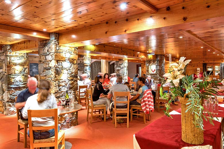 The restaurant at Chalet Hotel Aiguille Percée - photo courtesy of Mark Warner