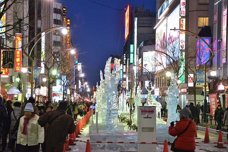 Ice sculptures at the Sapporo Snow Festival - photo courtesy of Sapporo Tourist Association