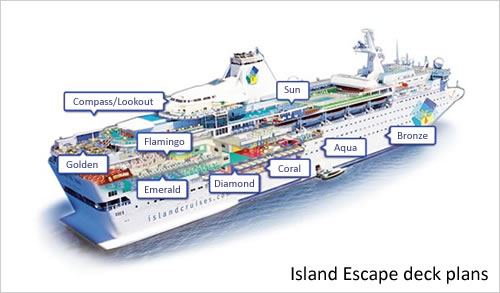 Island Escape deck plans and layout © TUI