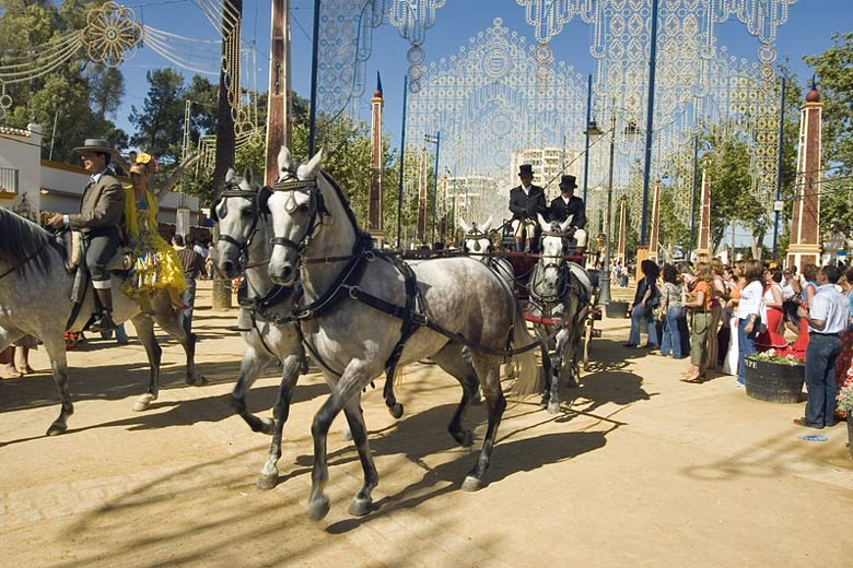 The Jerez Horse Fair held every year in the first week of May © Manologuerrero - Dreamstime.com