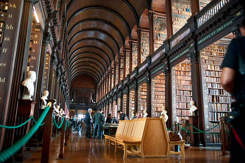 The Long Room, Trinity College, Dublin, Ireland - photo courtesy of Tourism Ireland