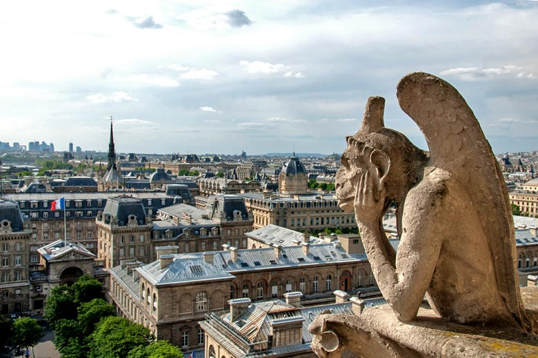 Notre Dame, Looking out over Paris © starryvoyage - Fotolia.com