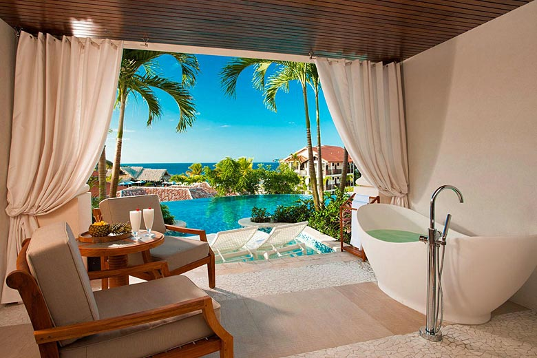 Enjoy the seaview from your very own Love Nest Butler Suite - photo courtesy of Sandals Resorts