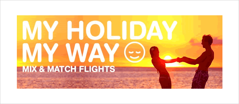 lowcostholidays 'mix and match' flights - new for 2015