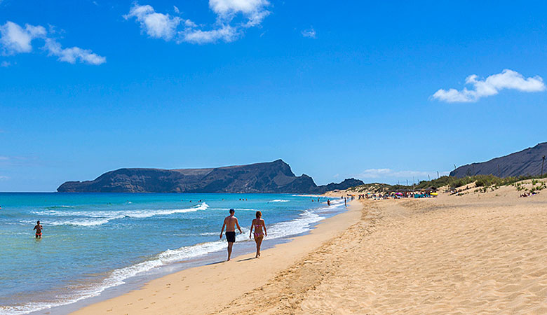 The massive beautiful beach on Porto Santo - photo courtesy of Madeira Regional Tourism Board