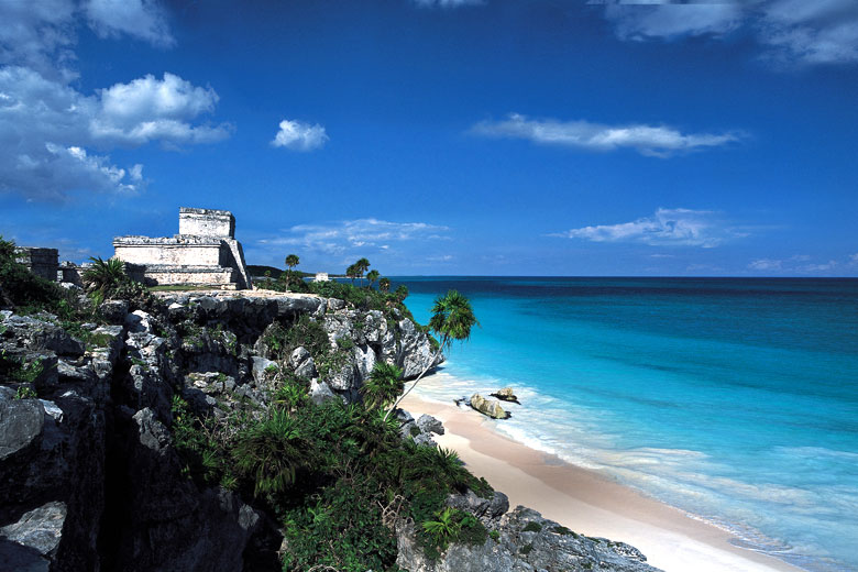 Mayan ruins near Tulum, Mexico -photo courtesy of Riviera Maya Tourist Board