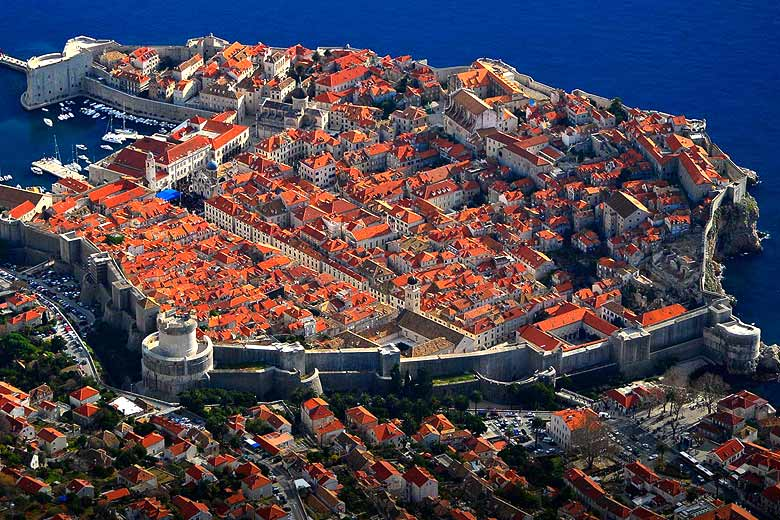 The medieval walled city of Dubrovnik - © photo courtesy of Croatian Tourist Board