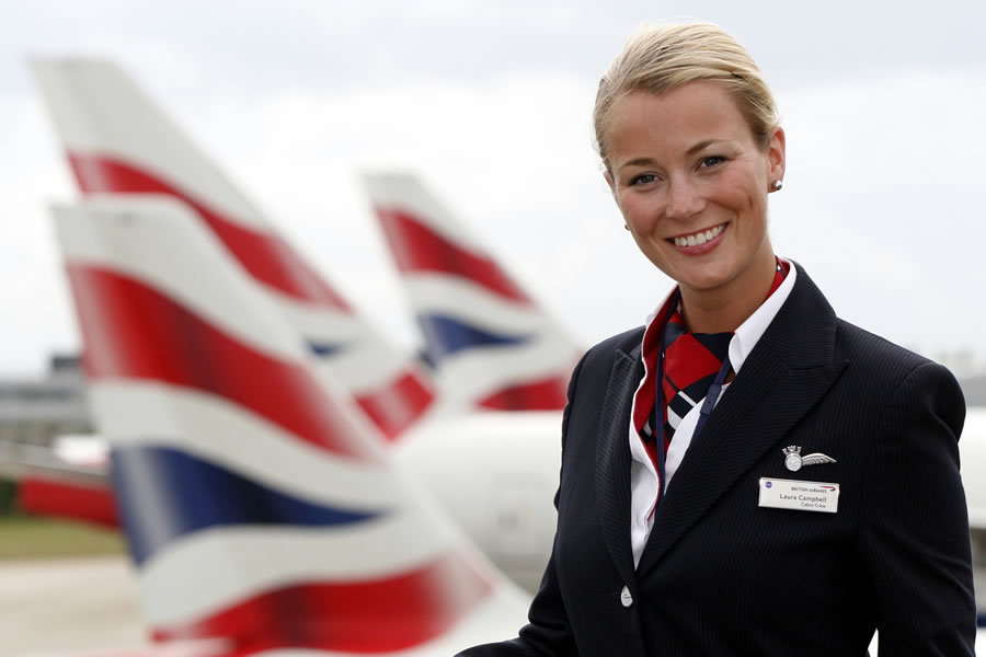 Member of BA cabin crew © British Airways