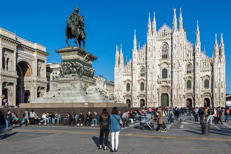 Milan Cathedral and statue of Vittorio Emanuele II © Andrej - Adobe Stock Image