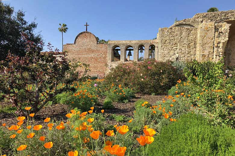 Ruins of the Mission San Juan Capistrano - photo courtesy of Orange County Visitors Association