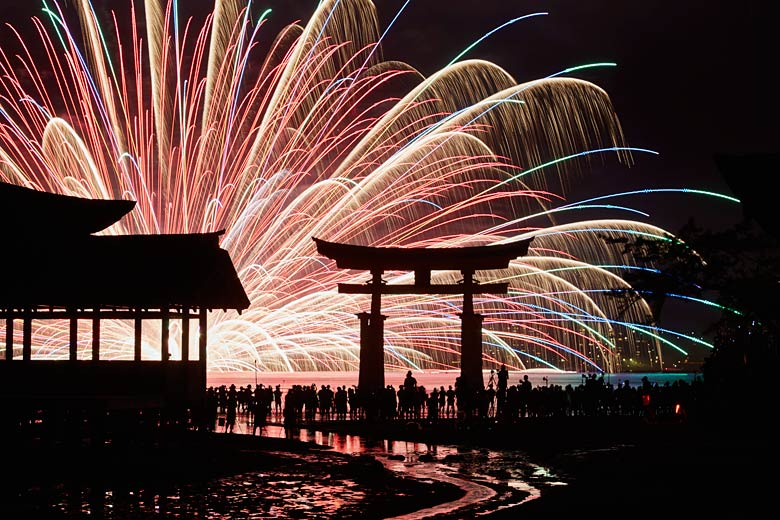 Miyajima, one of Japan's many firework festivals © JNTO - courtesy of Japan National Tourism Office