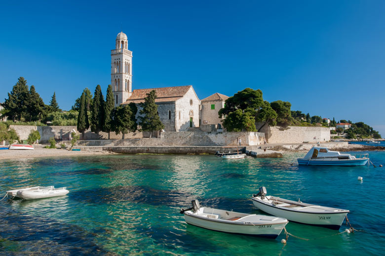 Where to go on holiday in August 2021/2022: Fifteenth century monastery, Hvar Croatia © Nolte Lourens - Fotolia.com