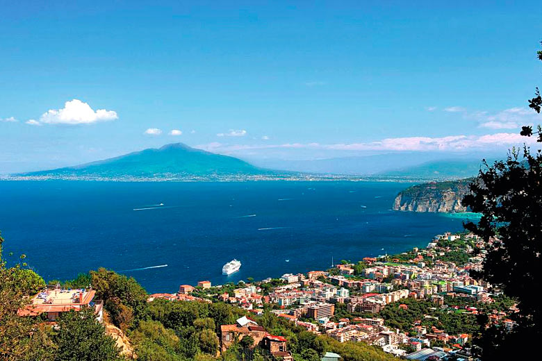 View of Mount Vesuvius across the bay from Sorrento - photo courtesy of TUI