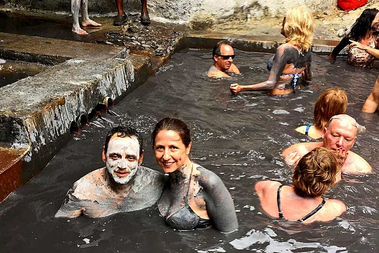 Mud baths at the Sulphur Springs, St Lucia © andrebronxguy - photo courtesy of Saint Lucia Tourist Board