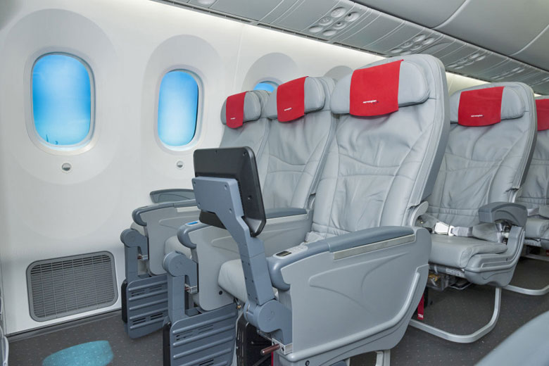 Interior of a Norwegian Air 787 Dreamliner © Norwegian Air Shuttle