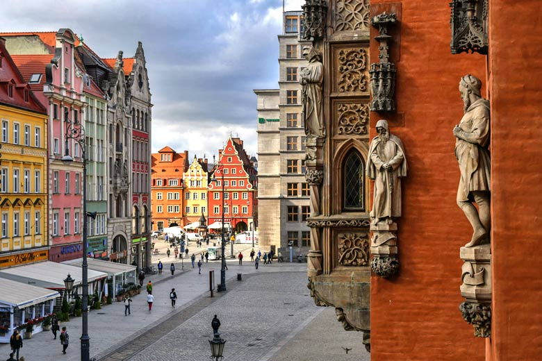 View from the Old Town Hall in Wrocłąw towards Salt Market Square - courtesy of Polish Tourism Organisation