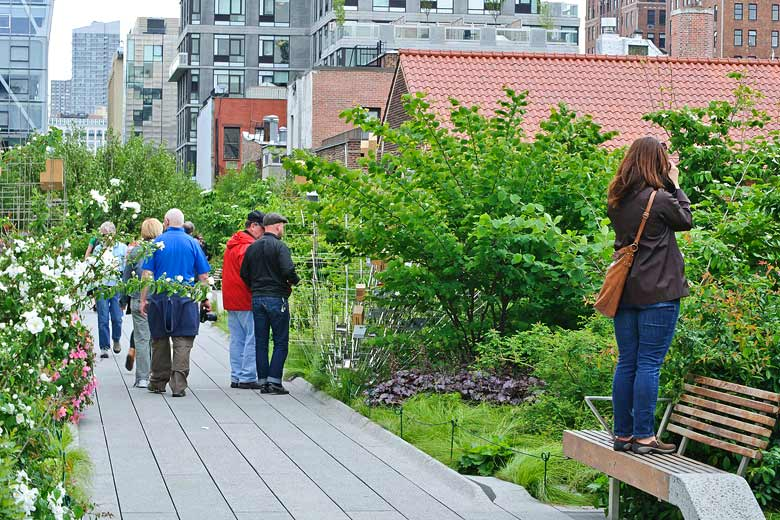 On the High Line walkway between 20th and 30th, New York City © InSapphoWeTrust - Wikimedia Commons
