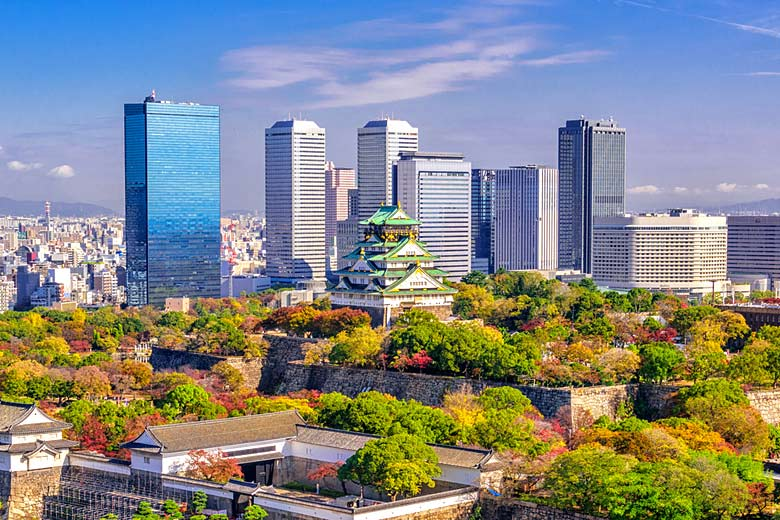 Osaka Castle with the city centre beyond © Sean Pavone Photo - Fotolia.com