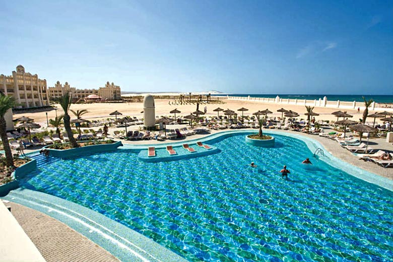 Pool beside the ocean at ClubHotel Riu Karamboa, Cape Verde - photo courtesy of ClubHotel Riu Karamboa