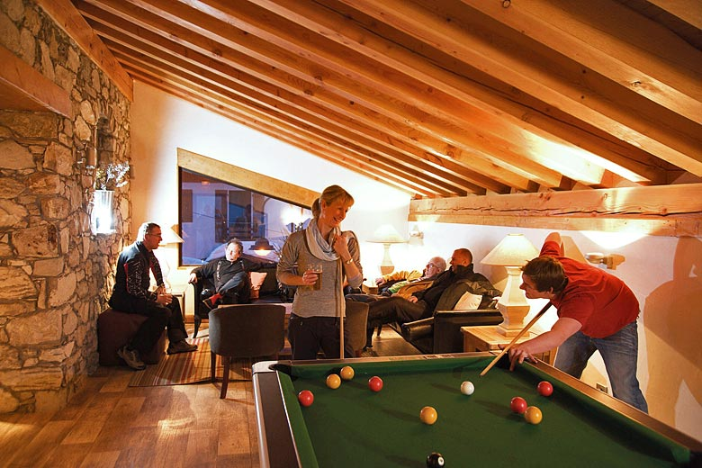 Pool table in the hotel bar - photo courtesy of Mark Warner