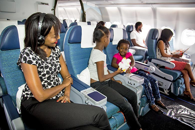 Premium economy on board RwandAir's A330 - photo courtesy of RwandAir