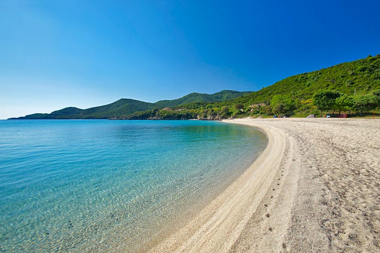 Proti Ammoudia beach at Olympiada - photo courtesy of Prefecture of Halkidiki