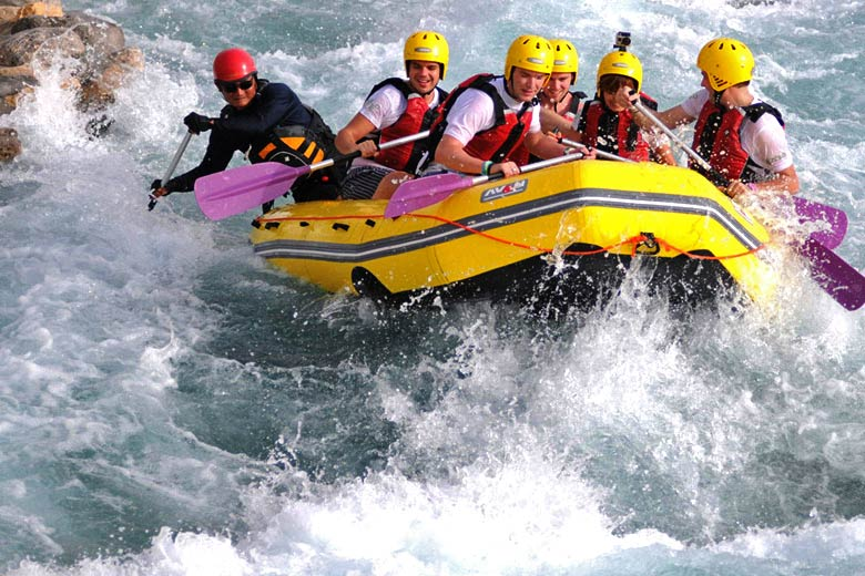 Rafting at Wadi Adventure, Al Ain - photo courtesy of www.wadiadventure.ae