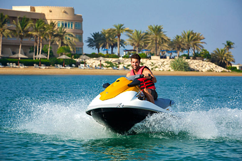 The calm seas of Ras Al Khaimah are ideal for watersports © 2016 Hilton Hotels & Resorts