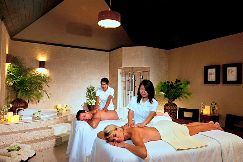 Relaxing in a Red Lane Spa - photo courtesy of Sandals Resorts