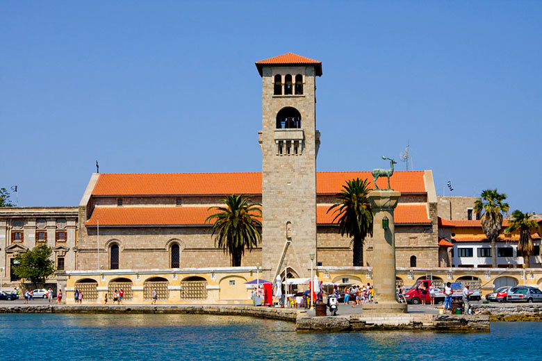 Entrance to Rhodes Harbour where the statue of Colossus once stood © Robert Dziewulski - Fotolia.com