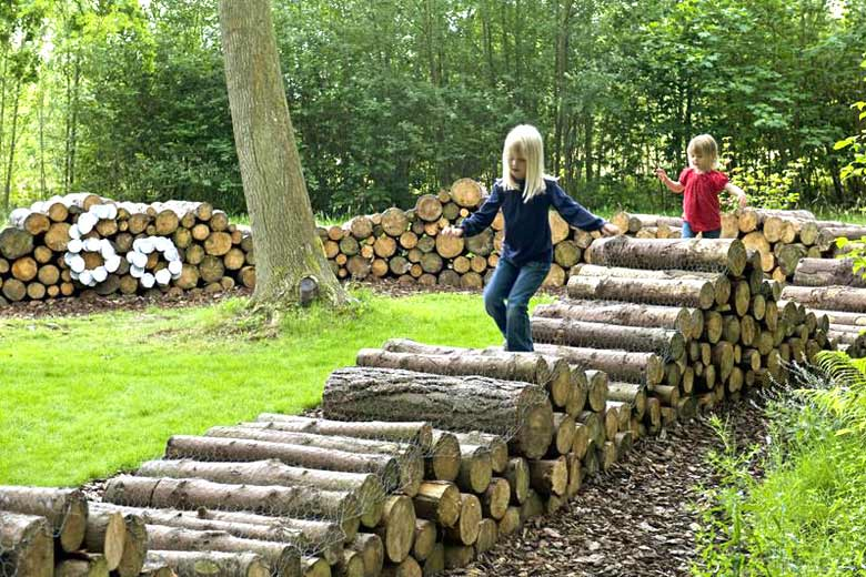 RHS Garden Harlow Carr Log Maze © Royal Horticultural Society (RHS)
