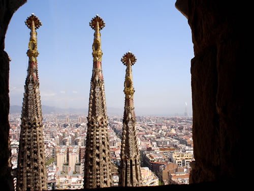 Romantic things to do in Barcelona - Sagrada Familia Bell Towers, coutesy of stock.xchng