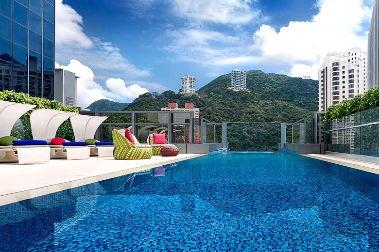 Roof garden pool at Hotel Indigo, Hong Kong Island - photo courtesy of InterContinental Hotels Group