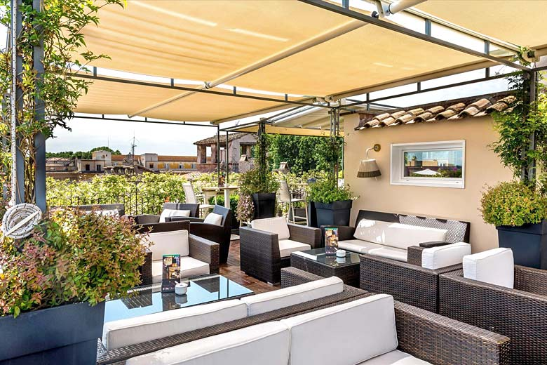 Roof Terrace Bar at Hotel Indigo, Rome - photo courtesy of InterContinental Hotels Group