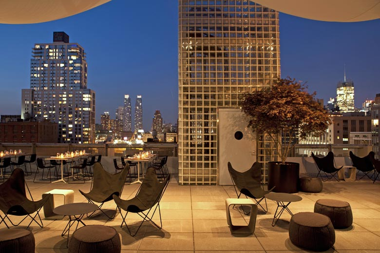 Roof terrace, Hotel Americano, New York - photo courtesy of Design Hotels