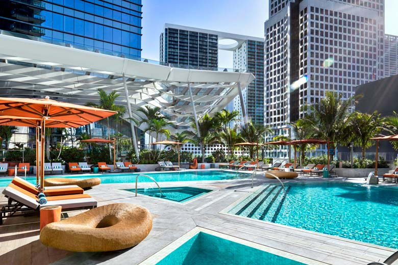 Rooftop pool and deck at EAST Miami - photo courtesy of Swire Hotels