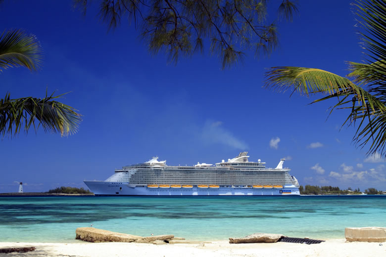 Allure of the Seas at port in Nassua, Bahamas © Royal Caribbean Cruises Ltd.