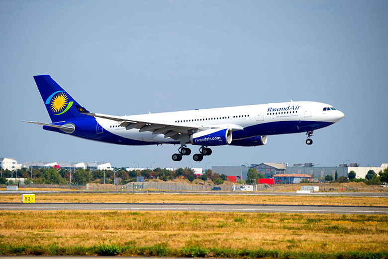 RwandAir has an all new fleet of Airbus A330 aircraft - photo courtesy of RwandAir