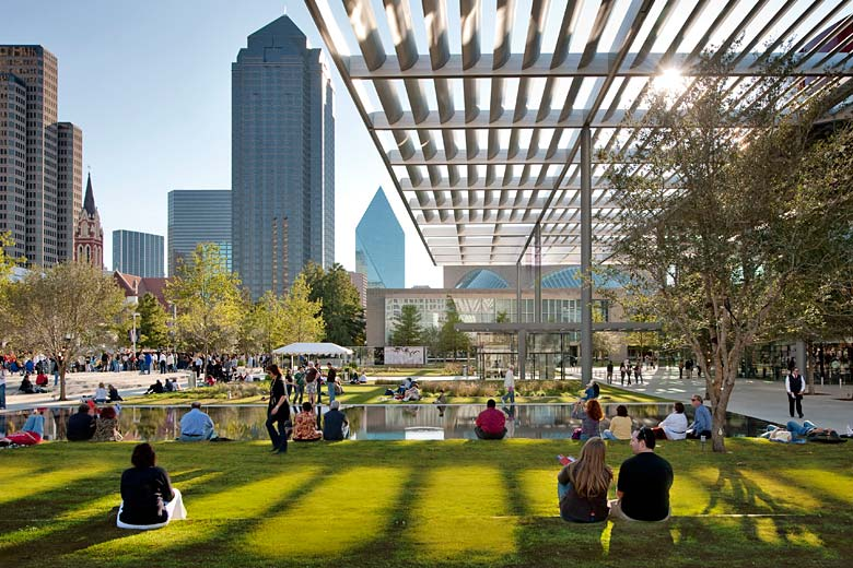 Sammons Park in the Arts District of Dallas, United States - courtesy of Visit Dallas