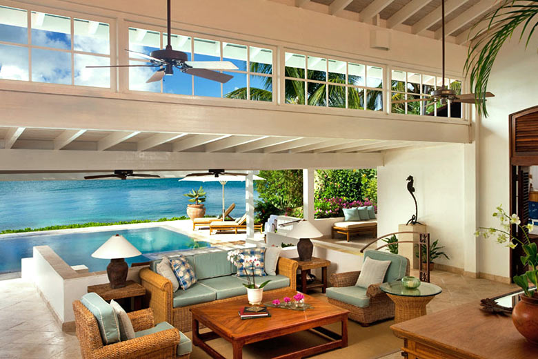 The Sea Horse villa at Jumby Bay, Antigua - photo courtesy of Rosewood Hotels & Resorts