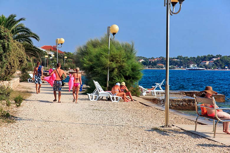 Path along the shoreline to the north of Zadar - photo courtesy of Zadar Tourist Board
