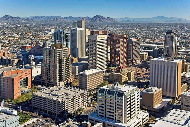 Sights to see on a walking tour of downtown Phoenix, Arizona, USA © DPPed - Wikimedia Commons