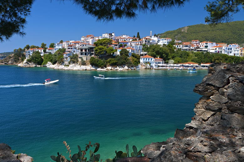 View from Bourtzi towards the old town, Skiathos © Panos - Fotolia.com