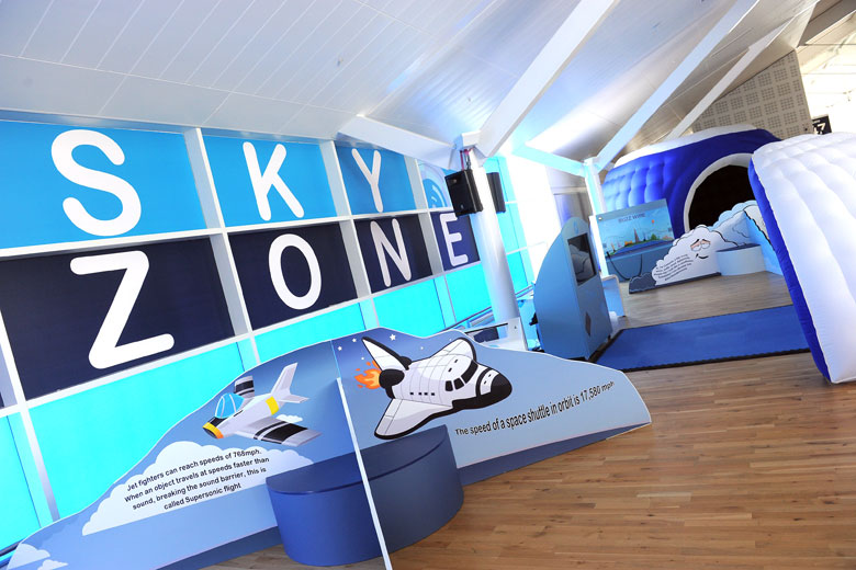 The Sky Zone play area at Birmingham Airport - photo courtesy of Birmingham Airport