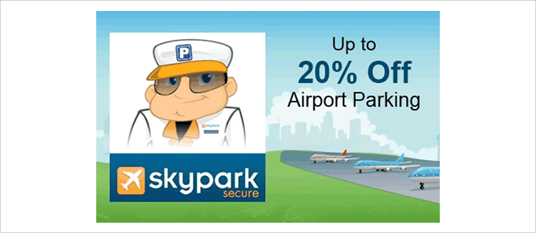 Skypark Secure voucher code: Save up to 20% on airport parking