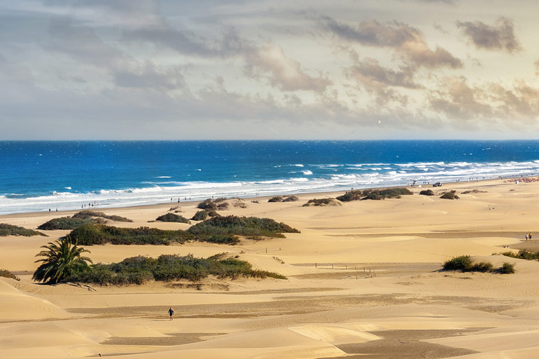 A small section of Maspalomas Beach, Gran Canaria © Valery Bareta - Fotolia.com
