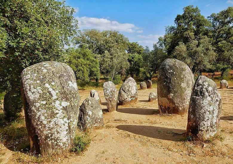 The standing stones at Cromlech of the Almendres, Alentejo © Kirsten Henton