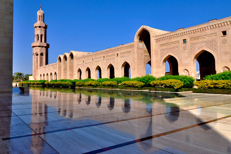 Part of the Sultan Qaboos Grand Mosque, Muscat, Oman © Dan - Flickr Creative Commons