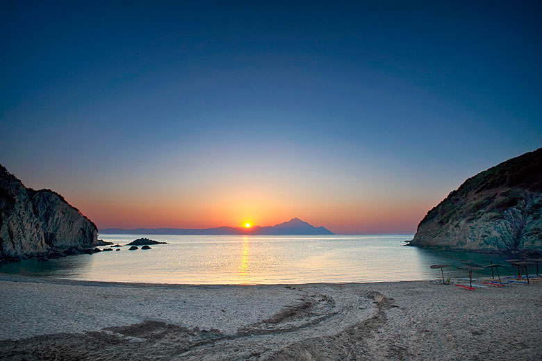 Sunrise over Mount Athos - photo courtesy of Greek National Tourism Organisation